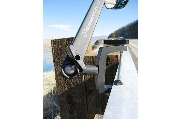 SteadyMount Universal Clamping Device on a fence