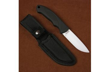 Stone River Gear Ceramic Hunting Knife and Sheath, Black-White, 7.75 SRG41RCW