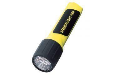 Streamlight 4AA Propolymer LED Flashlight, White LEDs w/ Batteries,Yellow,Box 68201