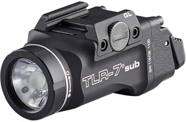 Streamlight TLR-7 Sub Ultra-Compact Weaponlight, Glock, CR123A, 500 Lumens, Black, 69428