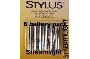 Streamlight Stylus AAAA Batteries - Replacement 1.5 Volt Alkaline battery 6 pack 65030 for Streamlight Stylus Flashlights & more