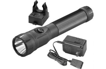 Streamlight PolyStinger LED Flashlight Fast Charge PiggyBack with 120V AC Fast Charger - PiggyBack Holder - Black - 76136