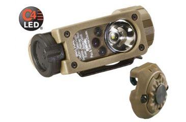 Streamlight Sidewinder Compact Aviation Flashlight - Coyote Tan w/ helmet mount 14120
