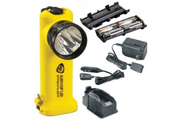 Streamlight Survivor-LED 90513, Yellow -AC and DC chargers, charging base, alkaline battery pack