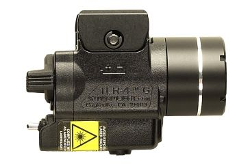 Streamlight TLR-4 G Compact Rail Mounted Tactical Light w/Green Laser Sight, Black 69245