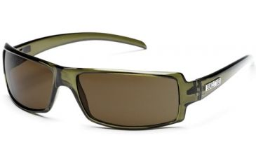 Suncloud Backstage Sun Glasses, Olive Frame, Brown Polarized Polycarbonate Lens S-BCPPBRGN