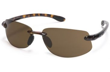 Suncloud Excursion Sun Glasses, Tortoise Frame, Brown Polarized Polycarbonate Lens S-EXPPBRTT