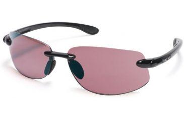 Suncloud Excursion Sun Glasses, Black Frame, Rose Polarized Polycarbonate Lens S-EXPPRSBK