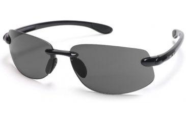 Suncloud Excursion Sun Glasses, Black Frame, Gray Polarized Polycarbonate Lens S-EXPPGYBK