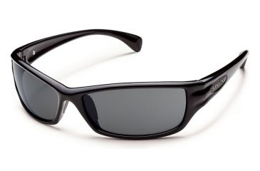 e9aaaf5006 Suncloud Hook Sunglasses Black Frame Gray Polarized Polycarbonate Lens  S-HKPPGYBLK