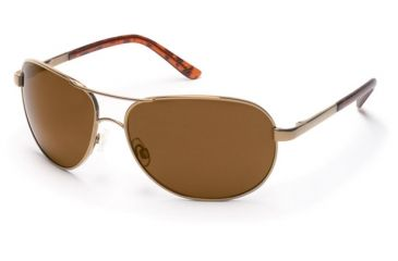 Suncloud Polarized Optics Aviator Sunglasses - Gold Frame, Brown Polarized Polycarbonate Lenses S-AVPPBRGD