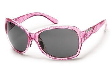 Suncloud Polarized Optics Cassandra Sunglasses - Fuschia Print Frame/Gray Polarized Polycarbonate Lens S-CRPPGYFC
