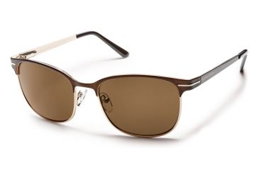 Suncloud Polarized Optics Causeway Sunglasses - Brown Frame/Brown Polarized Polycarbonate Lens S-CUPPBRBR