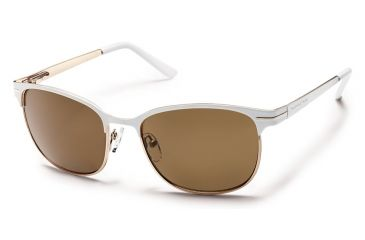 Suncloud Polarized Optics Causeway Sunglasses - White Frame/Brown Polarized Polycarbonate Lens S-CUPPBRWT