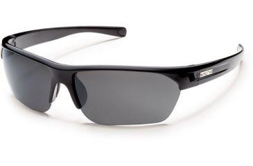 Suncloud Polarized Optics Detour (New) Sunglasses - Black Frame, Gray Polarized Polycarbonate Lenses S-DTPPGYBK