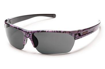 Suncloud Polarized Optics Detour Sunglasses - Purple Print Frame/Gray Polarized Polycarbonate Lens S-DTPPGYPR
