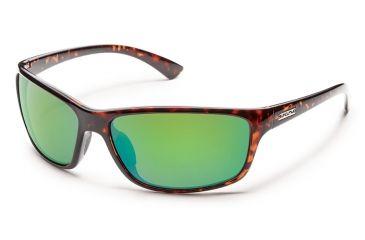 Suncloud Polarized Optics Sentry Sunglasses - Tortoise Frame/Green Mirror Polarized Polycarbonate Lens S-SEPPGMTT