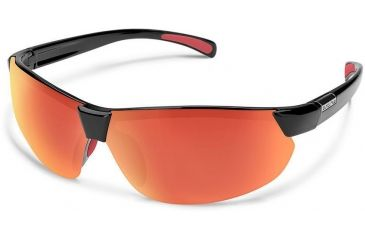 433d197b13 Suncloud Polarized Optics Switchback Sunglasses-Black-Red Mirror