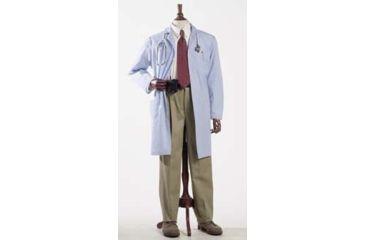 Superior Uniform Unisex Polyester/Combed Cotton Poplin Lab Coats, WORKLON 3491-3XL Labcoat Unisex Misty POPLIN3XL