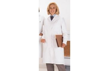 Superior Uniform Womens Polyester/Combed Cotton Poplin Lab Coats, WORKLON 438-L Labcoat Lady Wh Poplin L