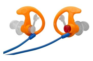 Surefire Double Flanged, Filtered Earplugs, Large, 1 Pair, Orange EP3-OR-LPR