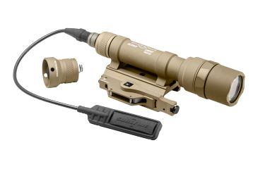 SureFire Scoutlight Weapon Light, Throw Lever Mount, 500 Lumens, Tan M620U-A-TN