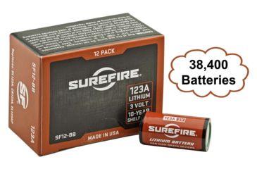SureFire SF123A Bulk Box, 38400 Ea. 3 Volt Lithium Batteries