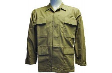 Surplus BDU Top 4 Pocket Khaki, Small - Long Sleeve BDU-T-4-KH-SL