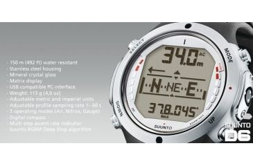 Suunto D6 Diving Watch Compass and Dive Computer - Features