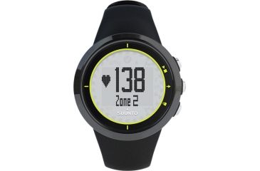 Suunto M2 Heart Rate and Calorie Monitor Watch, Black-Lime, One Size SS020647000