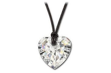 Swarovski Be Mine Clear Crystal Heart Pendant, engraved