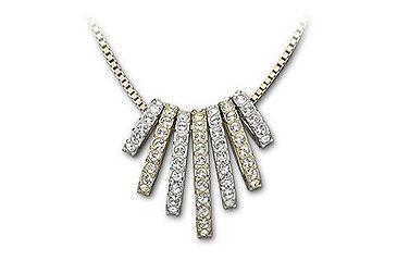 Swarovski Dance Necklace, gold-plated