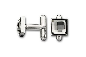 Swarovski Fasten Black Diamond Cuff Links
