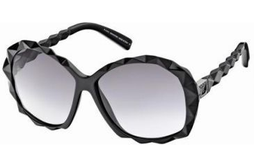 Swarovski Amazing Sunglasses SK0002 - Shiny Black Frame Color, Gradient Smoke Lens Color
