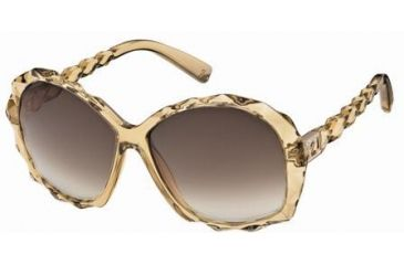 Swarovski Amazing Sunglasses SK0002 - Shiny Yellow Frame Color, Brown Mirror Lens Color