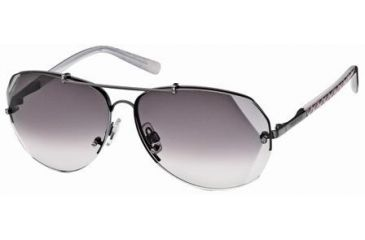Swarovski Atomic Sunglasses SK0006 - Shiny Dark Ruthenium Frame Color, Gradient Smoke Lens Color