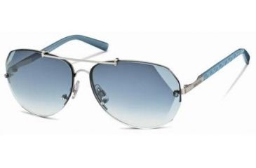 Swarovski Atomic Sunglasses SK0006 - Shiny Palladium Frame Color, Gradient Blue Lens Color