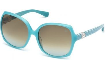 Swarovski SK0017 Sunglasses - Shiny Turquoise Frame Color, Gradient Roviex Lens Color