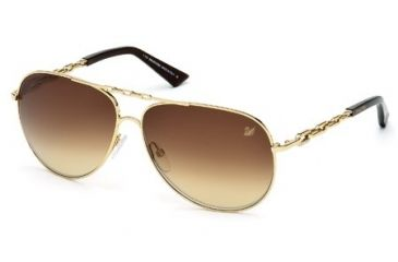 Swarovski SK0032 Sunglasses - Shiny Rose Gold Frame Color, Roviex Mirror Lens Color
