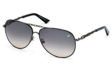 Swarovski SK0032 Sunglasses - Matte Gun Metal Frame Color