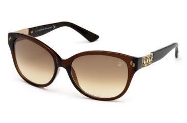 Swarovski SK0036 Sunglasses - Shiny Dark Brown Frame Color