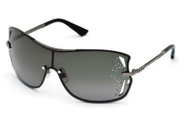 Swarovski SK0041 Sunglasses - Matte Gun Metal Frame Color, Gradient Smoke Lens Color