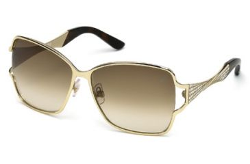 Swarovski SK0064 Sunglasses - Gold Frame Color, Gradient Brown Lens Color