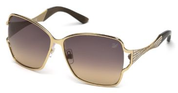 Swarovski SK0064 Sunglasses - Gold Frame Color, Gradient Smoke Lens Color