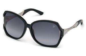 c6a9f0f7370 Swarovski SK0065 Sunglasses - Shiny Black Frame Color