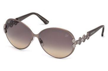 Swarovski SK0072 Sunglasses - Shiny Pink Frame Color, Gradient Smoke Lens Color