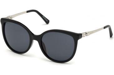 498d77720c2 Swarovski SK0155 Sunglasses - Shiny Black Frame Color