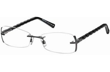 Swarovski SK5024 Eyeglass Frames - Shiny Dark Ruthenium Frame Color