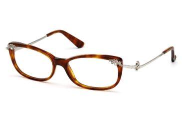 Swarovski SK5071 Eyeglass Frames - Dark Havana Frame Color