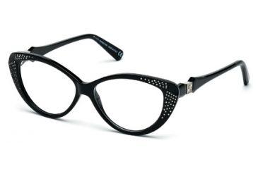 6bbc6584c6 Swarovski SK5074 Eyeglass Frames - Shiny Black Frame Color